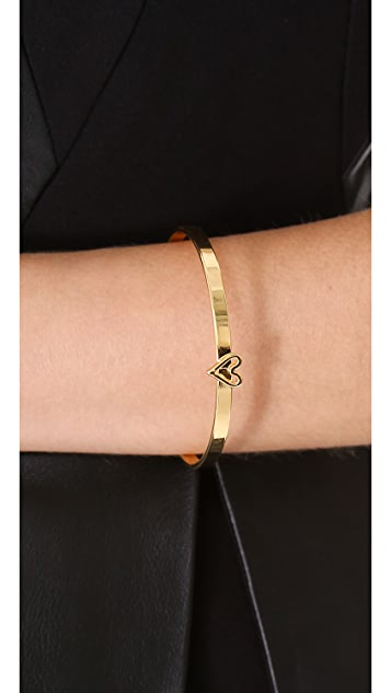 Jules Smith Heart Bangle Bracelet