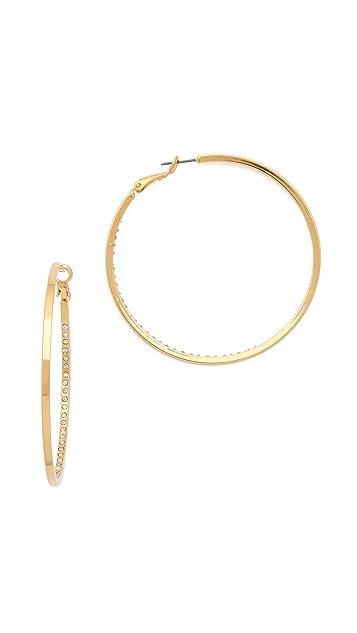Jules Smith Love From Paris Hoop Earrings