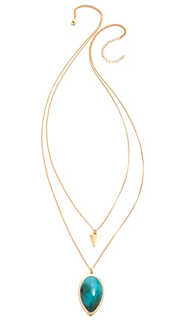 Jules Smith Double Charm Teardrop Necklace