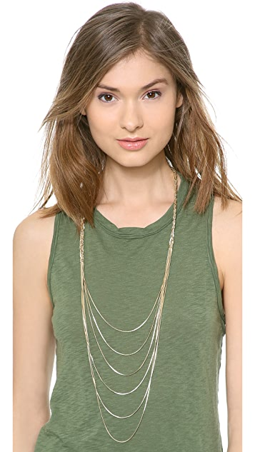 Jules Smith Long Layered Braided Necklace