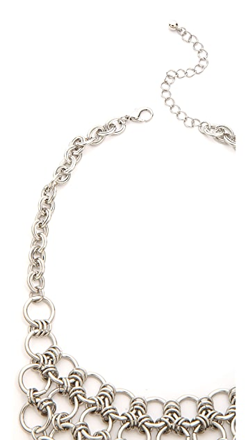 Jules Smith Round Chain Bib Necklace
