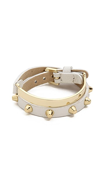 Jules Smith Stud & Bar Leather Wrap Bracelet
