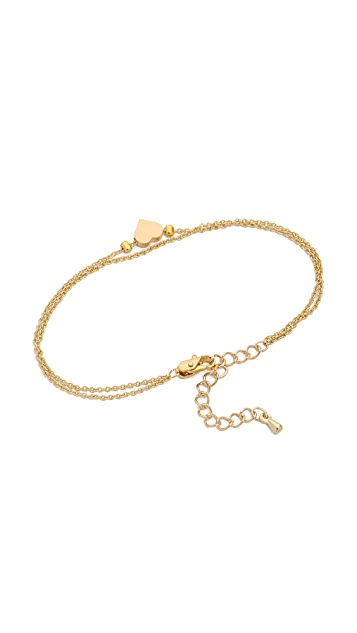 Jules Smith Double Chain Heart Charm Bracelet