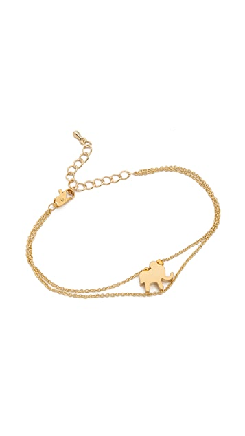Jules Smith Double Chain Elephant Bracelet