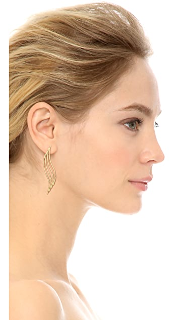 Jules Smith Wave Bar Earrings