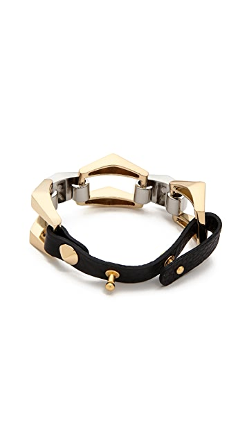 Jules Smith Leather & Chain Bracelet