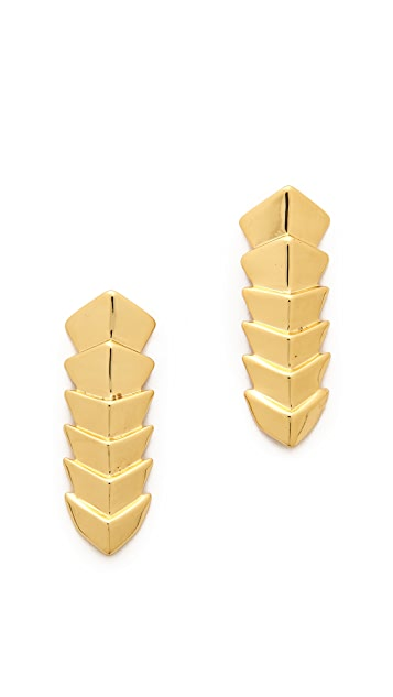 Jules Smith Chevron Stack Earrings