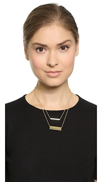 Jules Smith Double Rectangle Necklace