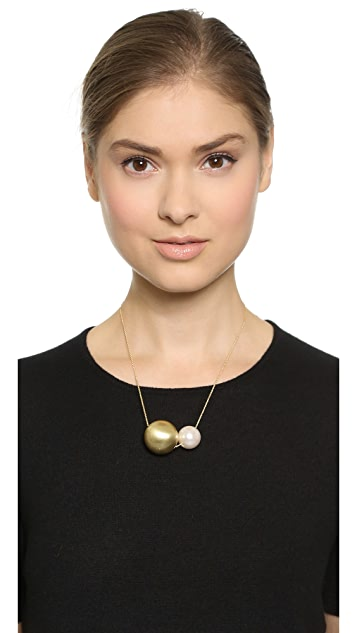 Jules Smith Assymetrical Imitation Pearl Necklace