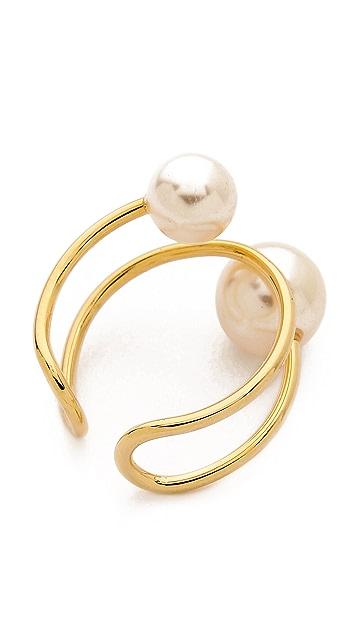 Jules Smith Abstract Imitation Pearl Ring