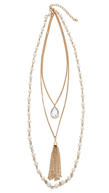 Jules Smith Antique Layered Tassel Necklace