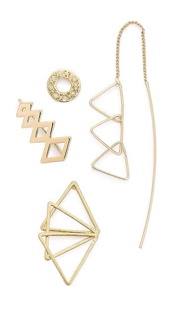 Jules Smith Набор из треугольных серег Geo
