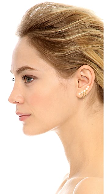 Jules Smith Imitation Pearl Chain Left Ear Crawler