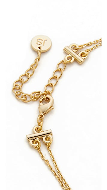 Jules Smith Short Layered Triangle Necklace