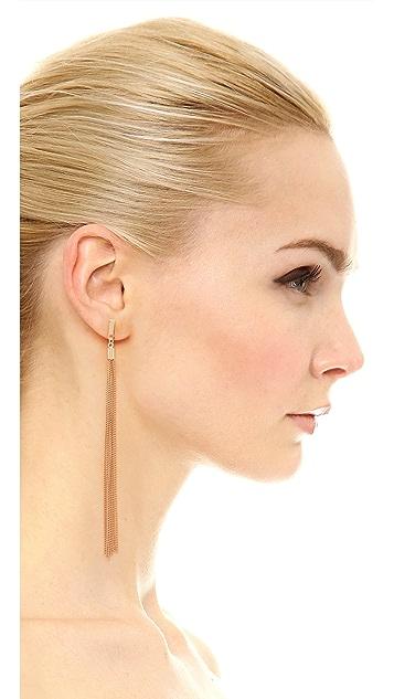 Jules Smith Long Chain Tassel Earrings