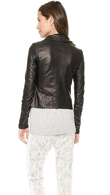 June Glove Leather Asymmetrical Jacket