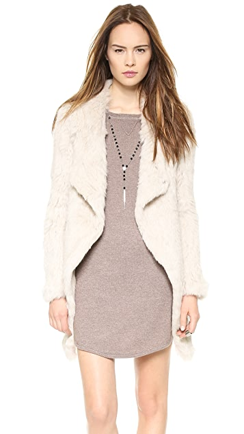 June Knit Fur Coat