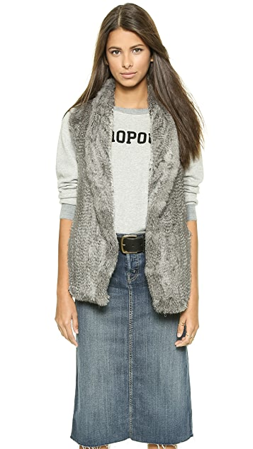 June Shawl Collar Fur Vest