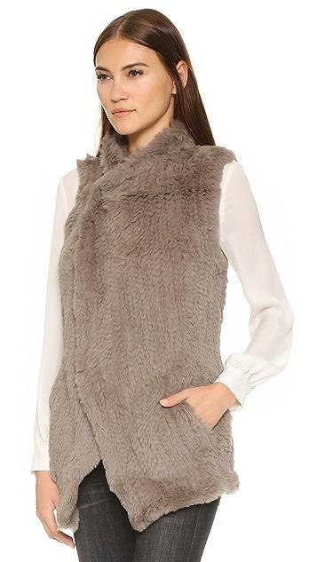 June Long Shawl Vest