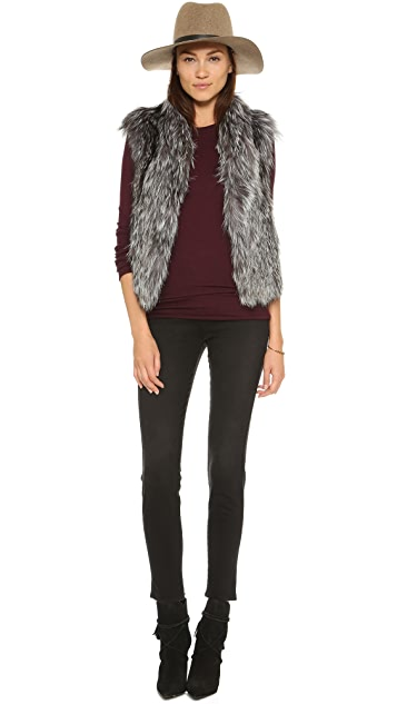June Fox Fur Vest