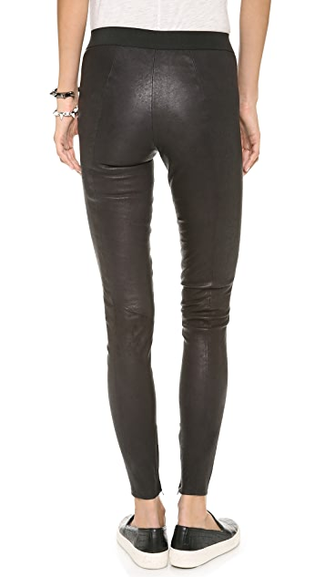 Just Female Amy Stretch Leather Pants