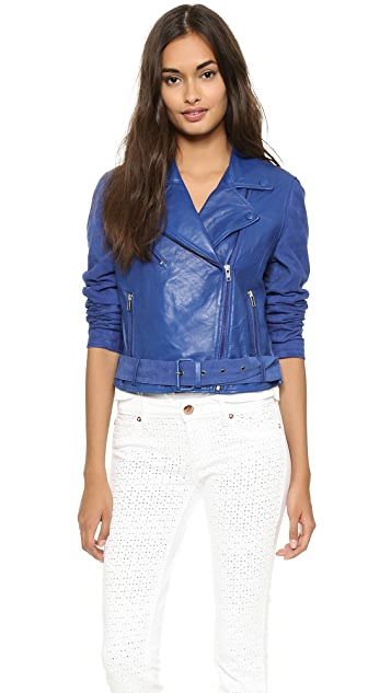Just Female Suede Leather Jacket