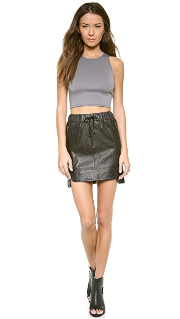 Just Female View Leather Skirt