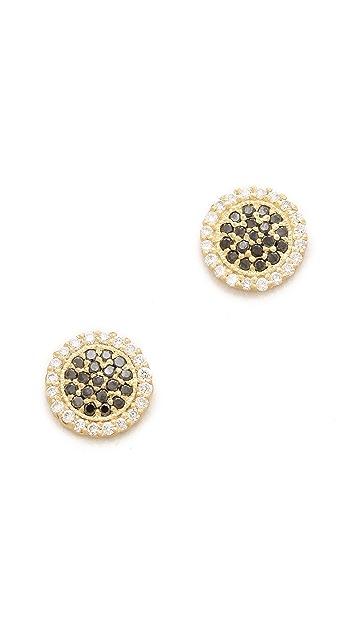 Jamie Wolf Pave Diamond Disc Earrings