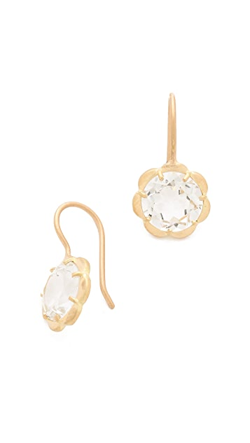 Jamie Wolf White Topaz Flower Earrings