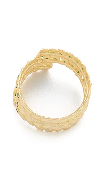 Jamie Wolf Gold Vine Ring with Tsavorite