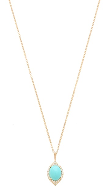 Jamie Wolf Small Oval Aladdin Pave Necklace