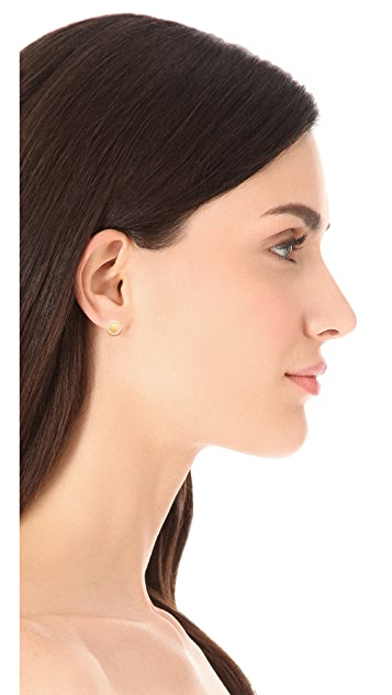 Jamie Wolf Diamond Scallop Pave Stud Earrings