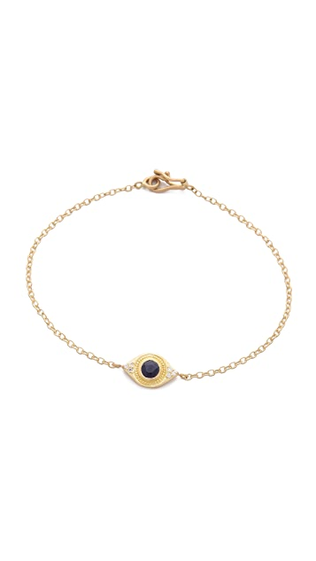 Jamie Wolf Sapphire Evil Eye Bracelet with Diamonds