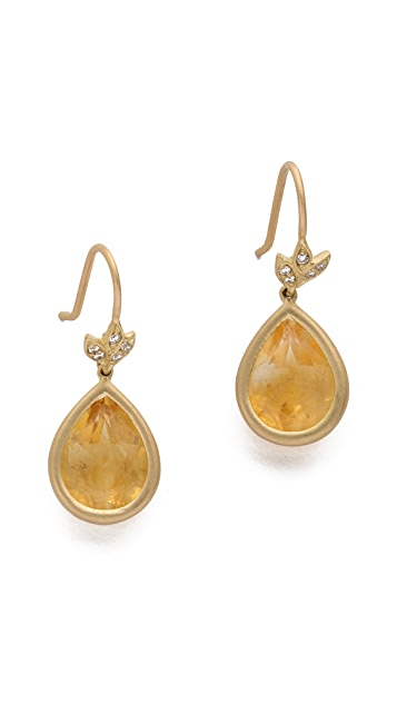 Jamie Wolf Citrine & Diamond Drop Earrings