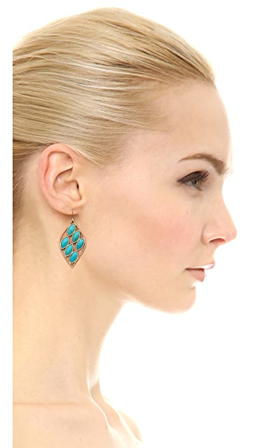 Jamie Wolf Acorn Earrings with Turquoise Stones