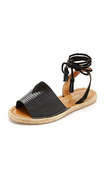 KAANAS Grenada Ankle Tie Sandals