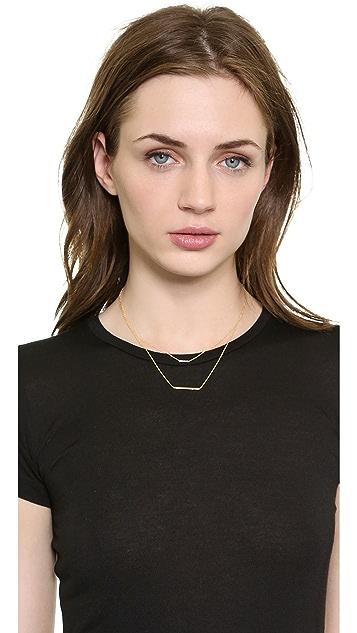 Kacey K Double Bar Necklace