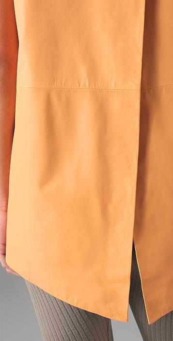 Kaelen Tamela Leather Tunic