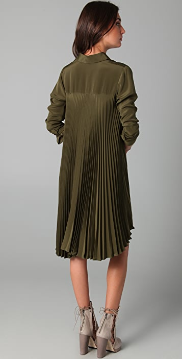 Kaelen Winona Shirtdress with Pleated Back