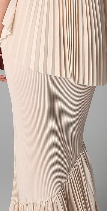 Kaelen Corina Strapless Pleated Dress