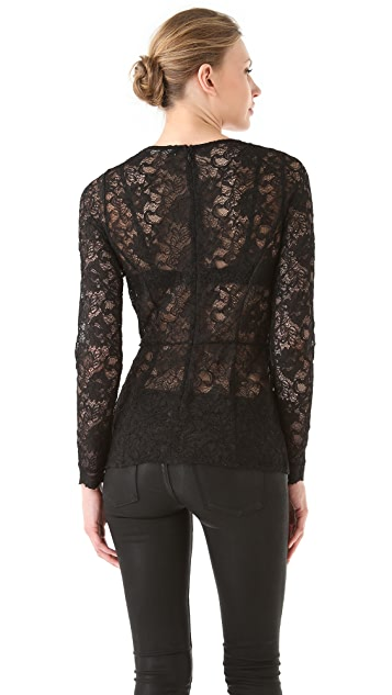 Kaelen Seamed Lace Top