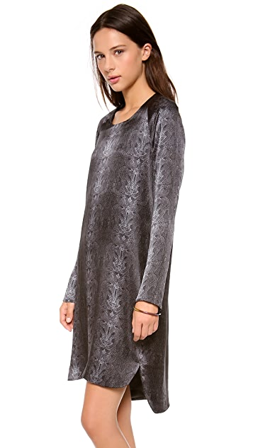 Kaelen Snake Print Raglan Sleeve Dress
