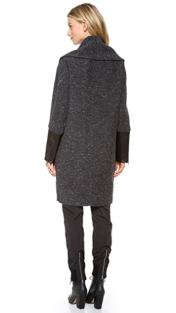 Kaelen Flecked Wool Cocoon Coat