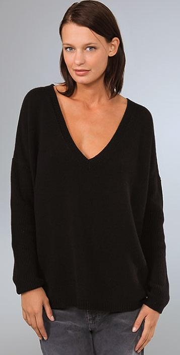 KAIN Label Cashmere Oversized V Neck Sweater