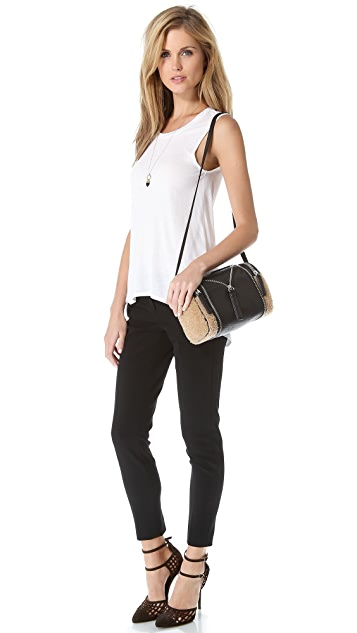 KARA Double Date Convertible Shearling Bag