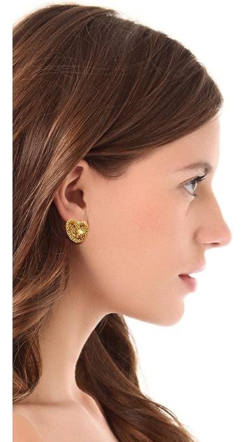 KARA by Kara Ross Knotted Snake Clip On Earrings