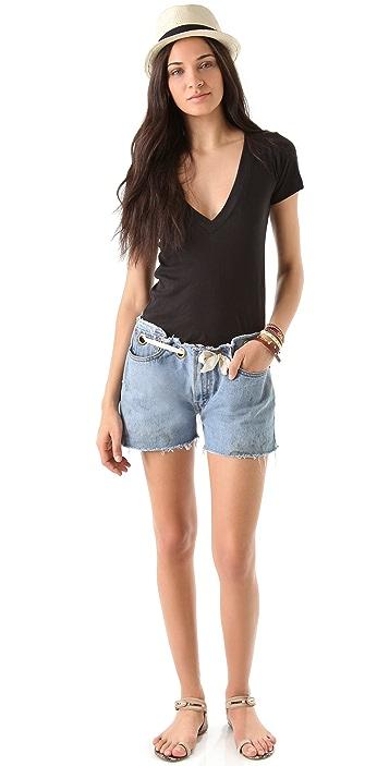 Karen Zambos Vintage Couture Grommet Shorts