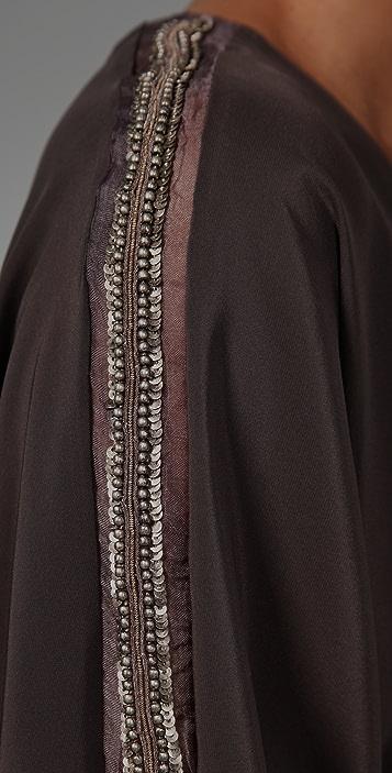 Karina Grimaldi Anna V Neck Mini Dress
