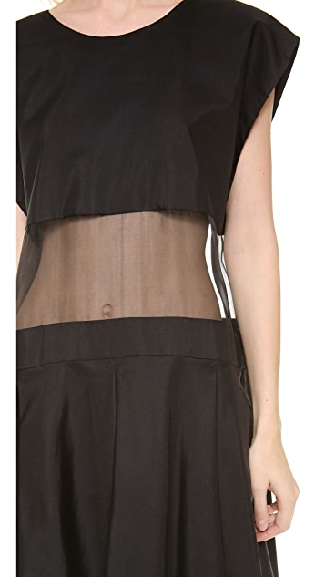 Karla Spetic Sheer Panel Box Dress