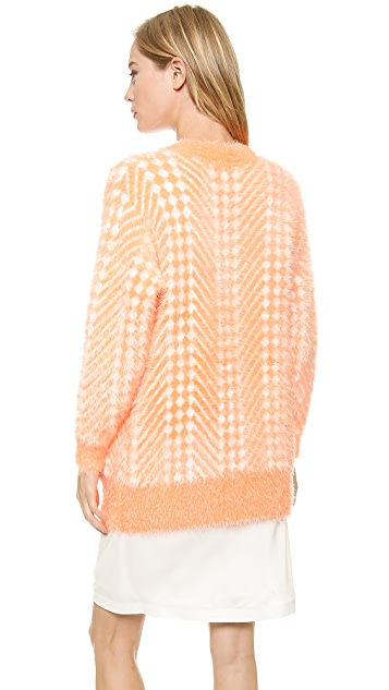 Karla Spetic Fluffy Chevron Cardigan